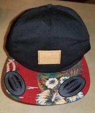 b9212f0605d RARE Billabong Unisex Hat Maht4cor Classic Fit Snapback Floral bill design  Black