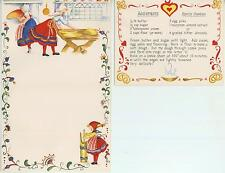 VINTAGE BAKER BUTTER CHURN SPRITZ COOKIE RECIPE 1 TEA POT BED BREAKFAST CAT CARD