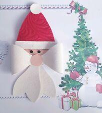 4 inch Christmas Santa Plastic Hair bow templates father xmas
