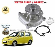 FOR DAIHATSU YRV 1.3 + 4TRACK MPV 2001-2005 NEW WATER PUMP + GASKET KIT
