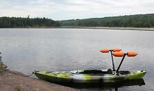 Kayak or Canoe Outriggers / Stabilizers - ORANGE FLOATS