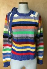 MARC JACOBS cashmere striped sweater distressed size M EUC! Hardly worn!