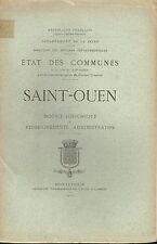 Etat des communes de la fin du XIX Saint Ouen 1902 - Historique Administratif