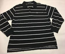 Polo Golf Ralph Lauren Mens Size XXL Black & White Long Sleeve Polo Shirt