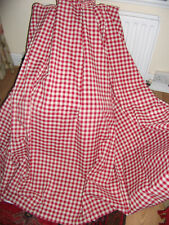 DUNELM RED GINGHAM CHECK CURTAINS with TIEBACKS * PENCIL PLEAT * LINED* UNUSED *