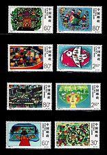 SELLOS CHINA 2000 3806/13 DIBUJOS INFANTILES 8v.