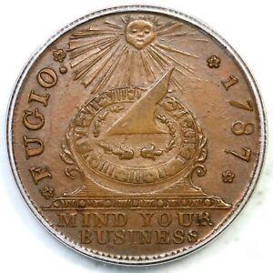 1787 104-ff R-3 PCGS MS 64 BN New Haven Restrike Fugio Colonial Copper Coin