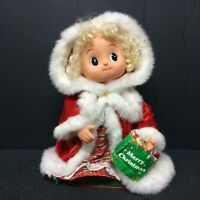 "Christmas Telco Motionettes Animated Musical 12"" Small Fry Girl w Gift Bag VIDEO"