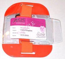 Orange Hi Vis Tactical ID Arm Band Holder Security ID Badge Card Doorman SIA