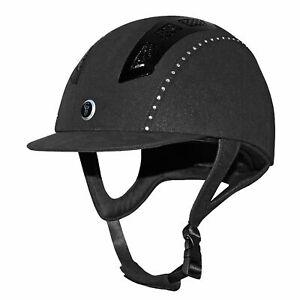 Gatehouse Chelsea Air Flow Pro Suedette Crystal Riding Hat Black 59cm
