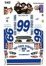 #99 Carl Edwards 3 Stooges Beer 1/43rd Scale Slot Car Waterslide Decals