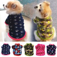 Pet Dog Warm Sweatshirt Coat Vest Puppy Soft Fleece Pullover Clothes Supplies