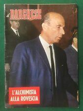 IL BORGHESE n.43/1969 Rivista con Inserto SESSO E FUMETTO NOIR DIABOLIK