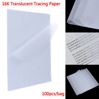 100pcs Tracing Paper Translucent Craft Copying Calligraphy Drawing Writing ShTR