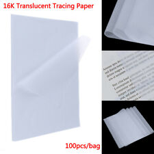 100pcs Tracing Paper Translucent Craft Copying Calligraphy Drawing Writing Sh P1