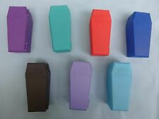 Crazy Bones COFFIN CONTAINERS  Item #00204  Set of 5 different colors  NWT