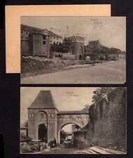 112439 2 AK Thorn Torun 1915 Bückentor Feldpost Eisenbahn Bau Comp. Der Dransker