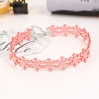 1 pc Retro Hollow Snow Fllower Choker Necklace Women Fashion Design Jewelry SOL
