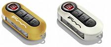 Genuine Fiat Orange and White Key Covers 500 50926870