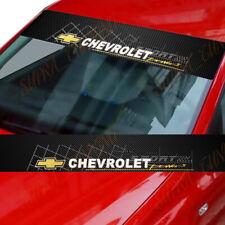 Chevrolet Car Window Windshield Carbon Fiber Vinyl Banner Decal Sticker Chevy