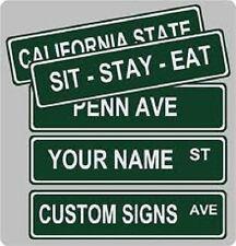 """Custom Street Sign 4""""x18"""" .040"""" Aluminum with Premium Outdoor Vinyl Lettering"""