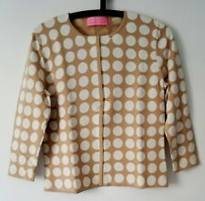 NEW! Beautiful CHARLES TYRWHITT Ladies BEIGE CARDIGAN TOP JUMPER - SMALL - £169
