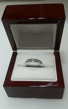 14K White Gold Princess Cut Diamond Bridal Wedding Ring Band 0.45CT