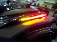 "Smoked Lens 11/"" Integrated LED Motorcycle Light Bar with Run//Brake//Turn"