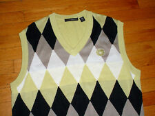Greg Norman Medinah Country Club Argyle Sweater Vest Cotton Mens L Stunning!