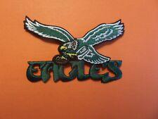 PHILADELPHIA EAGLES WHITE & GREEN EMBROIDERED IRON ON PATCHES  2-1/4 X 3-7/8