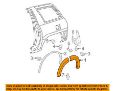 TOYOTA OEM 01-05 RAV4 Ext-Wheel Well Fender Flare Arch Molding Right 7565342060