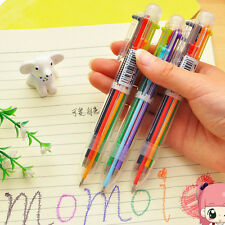 Neuheit 6 Farbe Kugelschreiber für Kinder Studenten Bürozubehör Praktische RUDE