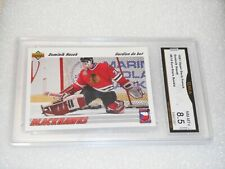 Dominik Hasek GRADED ROOKIE!!! 1991 Upper Deck #E14 French Red Wings 8.5-%2