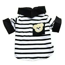 NEW SS BLACK & WHITE STRIPE TEDDY BEAR SHIRT FOR SMALL DOG BREEDS SIZE XS