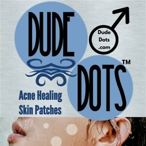 Dude Dots • Acne Healing Skin Patches • Stick to Stubble • Shaving Cut Band Aide