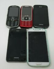 LOT OF 5 SAMSUNG GALAXY CELL PHONES, GALAXY S3, S4, M575 640, V.NWK PARTS/REPAIR