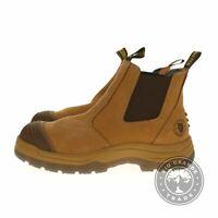 NEW ROCKROOSTER Men's Steel Toe Slip Resistant Work Boots in Brown - 12 EEE