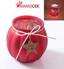PORTACANDELA vetro rosso BELL'EFFETTO Natale h11 decorazione centrotavola regalo