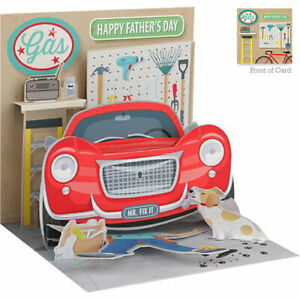 3D Father's Day Greeting Card from Up With Paper - DAD'S GARAGE - UP-WP-FD-1177