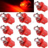 10X T5 LED Auto Rot Tachobeleuchtung B8.5d Beleuchtung Tacho Lampe Licht 12V DE