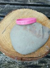 Pink Rubber wristband HAVE HOPE