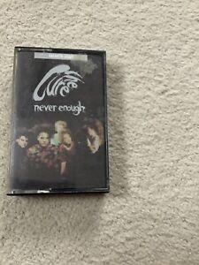 CURE NEVER ENOUGH CASSETTE 2 track (FICCS35) UK FICTION 1990