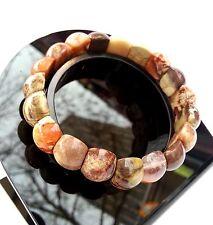 Cadeau Pour Femme Bracelet Lithothérapie Jaspe Paysage Bijoux en Pierre Naturel