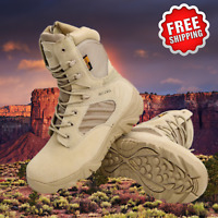 Mens Military Tactical Boots Desert Army Camo Patrol Combat Work Hiking Shoes