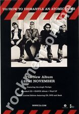 U2 How To Dismantle An Atomic Bomb LP Advert