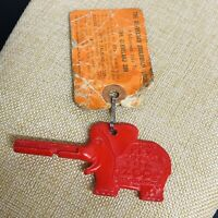 Vintage Red Cleveland Zoo Packey the Elephant Storybook Box Family Key Tag