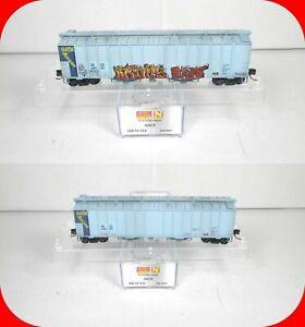 N Scale GATXGACX 50' Airslide Hopper Weathered Graffiti MICRO TRAINS 098 44 010