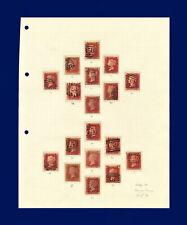 1879 SG43 1d Set of 151 Penny Plates 71-225 (excluding 77) G/FU Cat £2216 bbpk