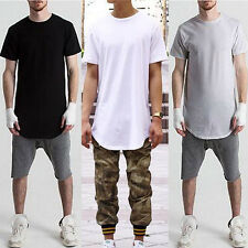 Mens Loose Baggy Short Sleeve O Neck Street T-shirts Hip-hop Casual Club Tee Top