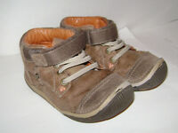STRIDE RITE GARETT TODDLER BOYS SHOES ANKLE BOOTS size 7 W TAN BROWN LEATHER